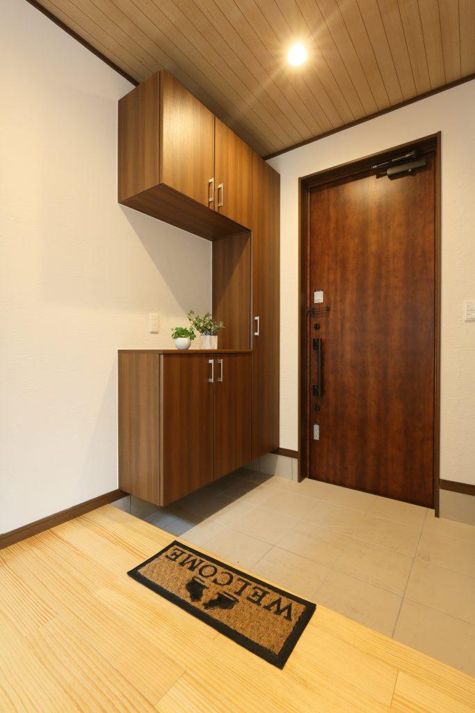 ゆったりスペースで快適な玄関