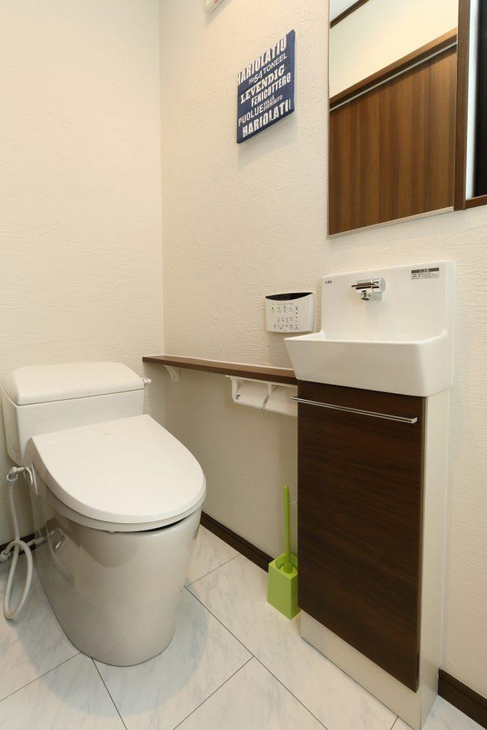 シンプルで使いやすいお手洗い