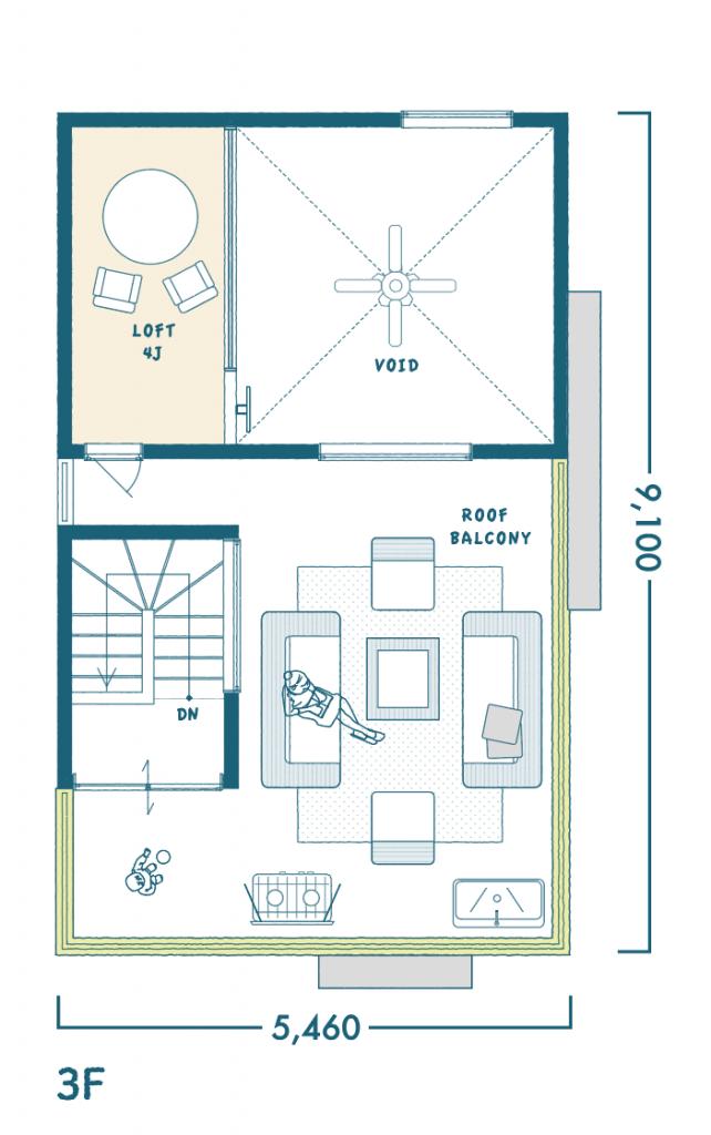3階(ルーフトップ)